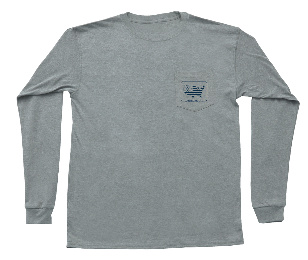 United We Stand Long Sleeve Pocket Tee