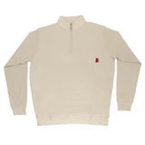 Alabama Khaki Cotton Pullover - Crimson Logo
