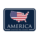 American Patch Decal - Navy