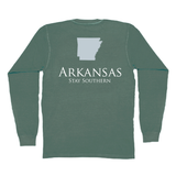 Arkansas Classic Stay Southern Long Sleeve Pocket Tee