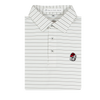UGA Bulldog Head White & Ash Gray Betula Stripe Polo