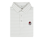 YOUTH - UGA Bulldog Head White & Ash Gray Betula Stripe Polo