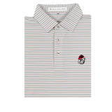 UGA Bulldog Head Red & Black Betula Stripe Polo