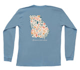 Floral State Design Long Sleeve Pocket Tee