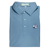 GSU Navy & White Classic Stripe Performance Polo - Self Collar