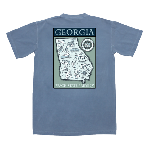 Georgia Foliage Short Sleeve Tee