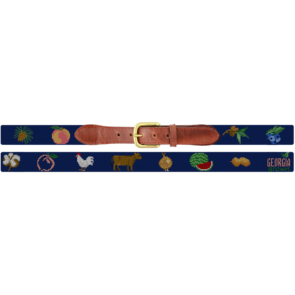 Peach State Pride Georgia Grown Needlepoint Belt