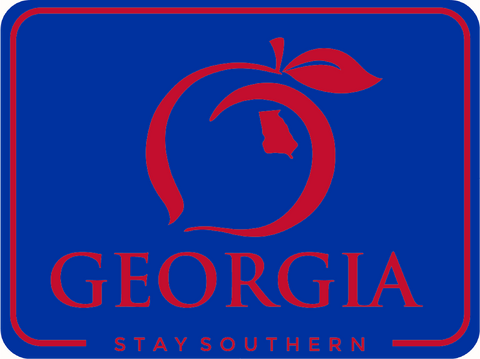 Stay Southern Montage Navy Decal