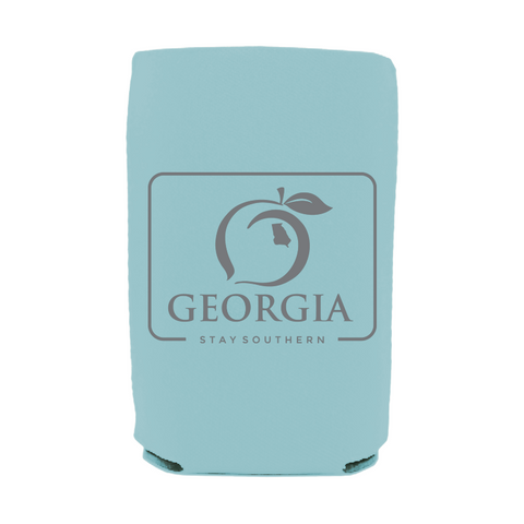 Peach Patterned Koozie
