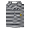 KSU Black & White Classic Stripe Performance Polo - Self Collar