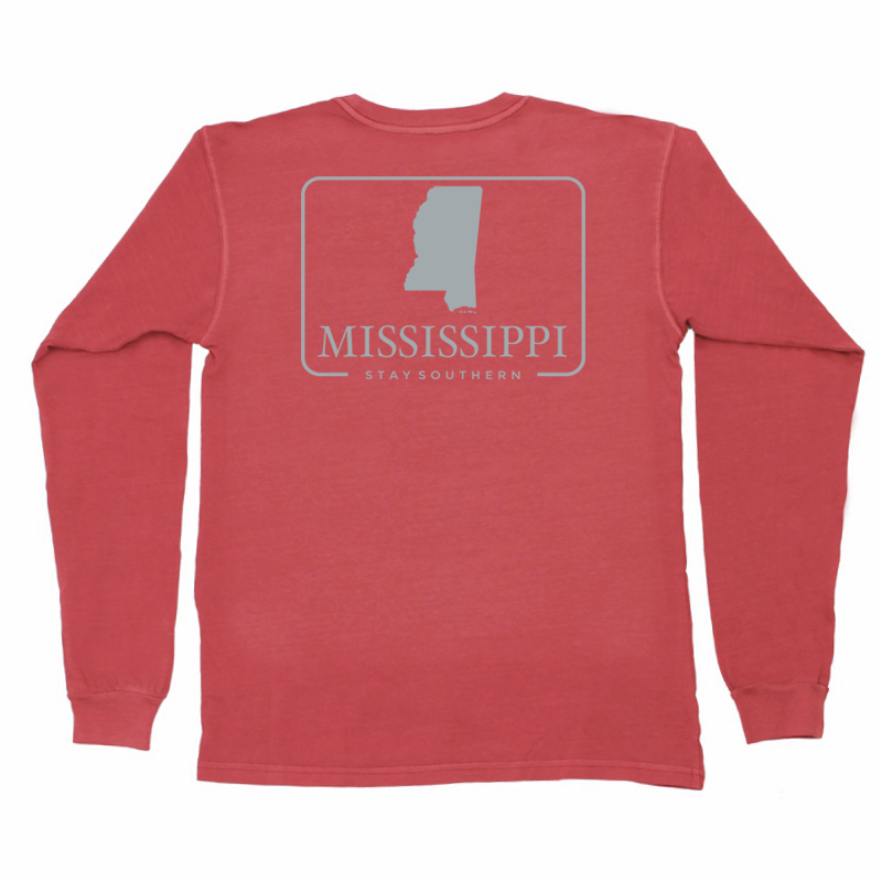 Mississippi Patch Long Sleeve Pocket Tee