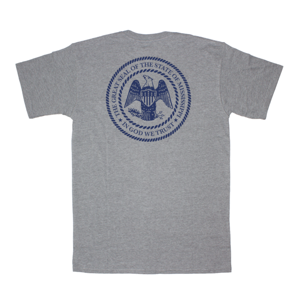 Mississippi State Seal Short Sleeve Pocket Tee