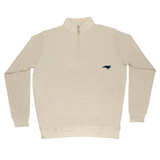 North Carolina Khaki Cotton Pullover - Navy Logo