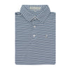 Navy & White Classic Stripe Performance Polo
