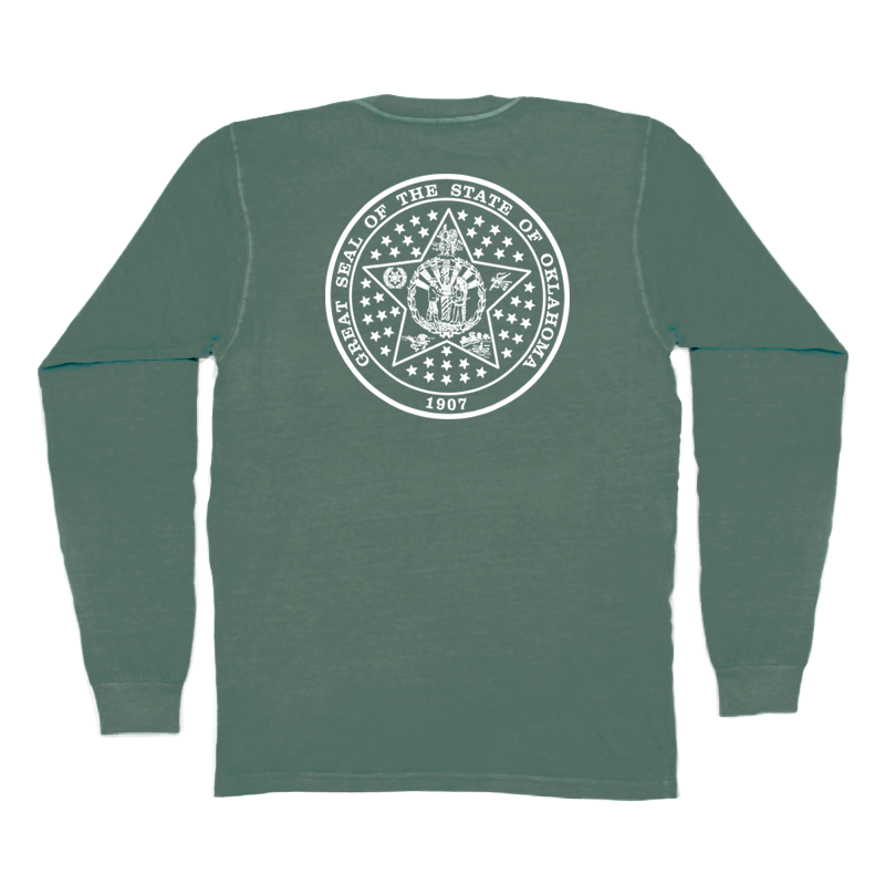 Oklahoma State Seal Long Sleeve Pocket Tee