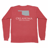 Oklahoma Classic Stay Southern Long Sleeve Pocket Tee