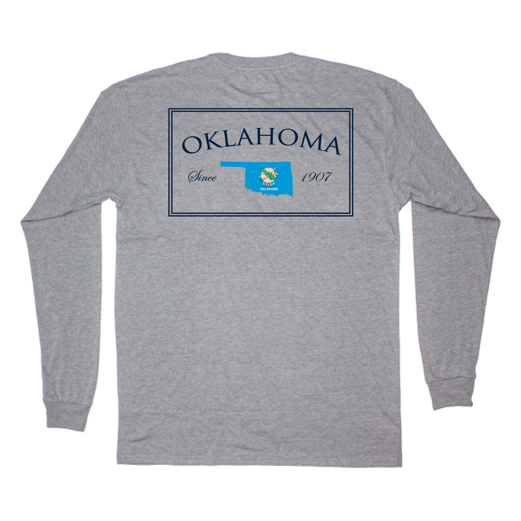 Oklahoma Established Long Sleeve Pocket Tee