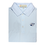 GSU Sky Blue & White Magnolia Stripe Performance Polo - Knit Collar
