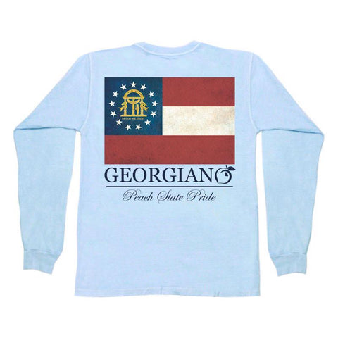 The South Watercolor Long Sleeve Pocket Tee