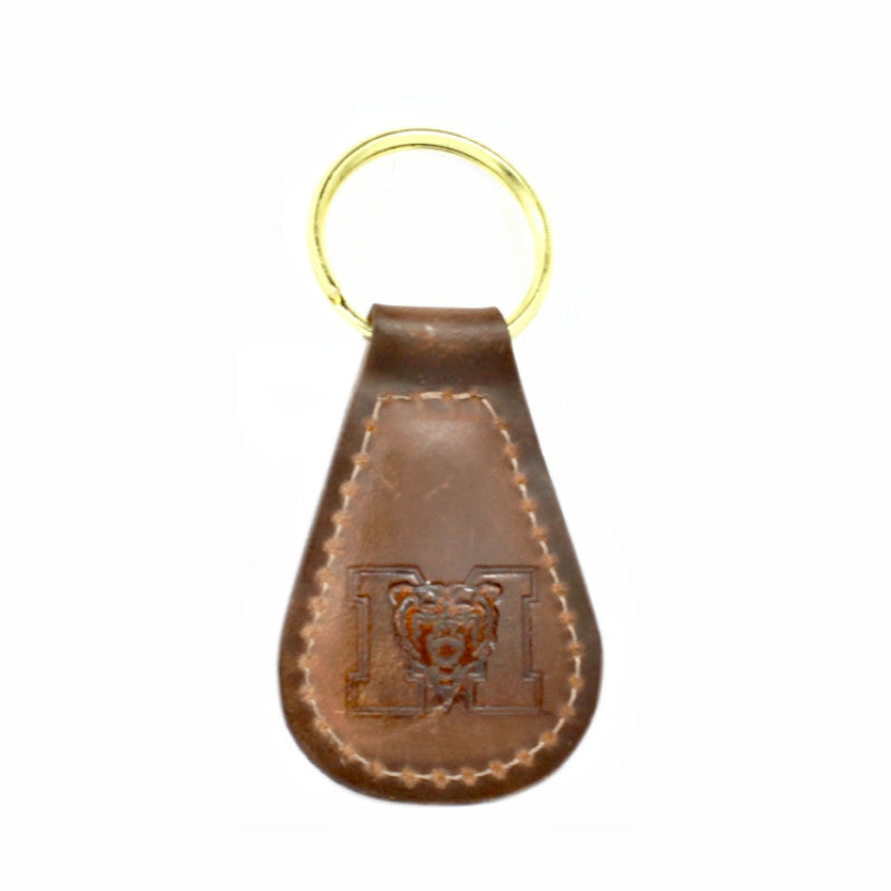 Mercer University Leather Key Fob