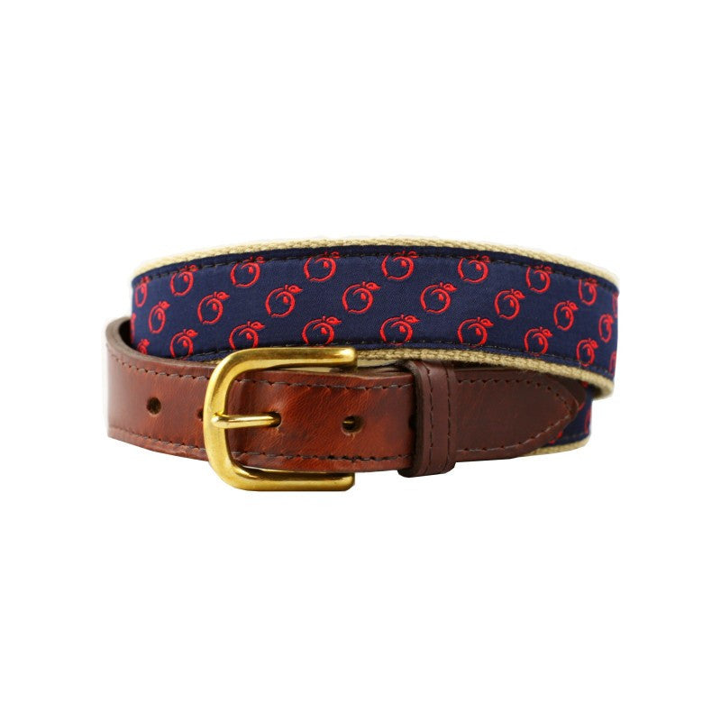 Peach Ribbon Canvas Belt