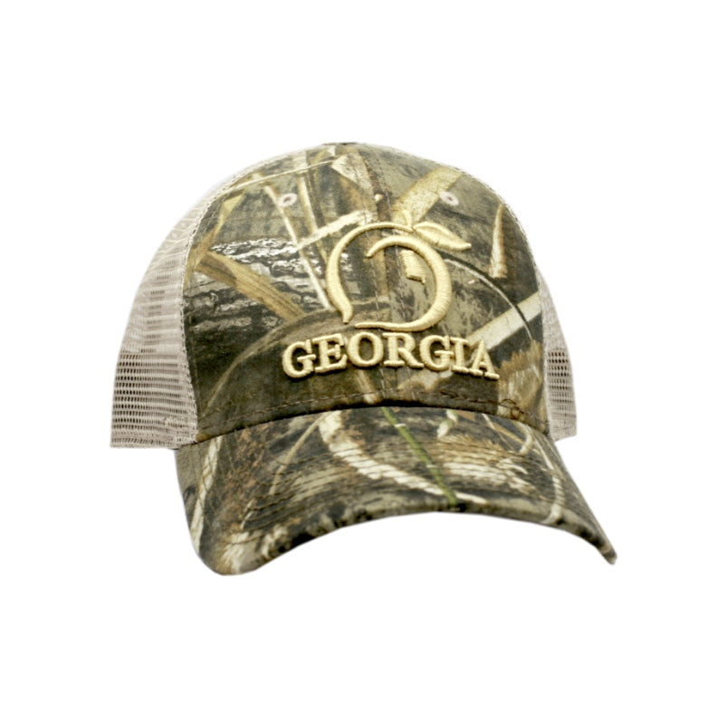 Camo Georgia Mesh Back Trucker Hat