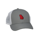 State of Georgia Performance Mesh Back Trucker Hat - Grey