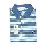 GSU Navy & Mint Classic Stripe Performance Polo - Knit Collar