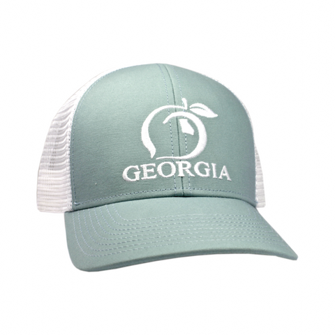 50cb0e97ede63f Peach State Pride. Youth Georgia Mesh Back Trucker Hat