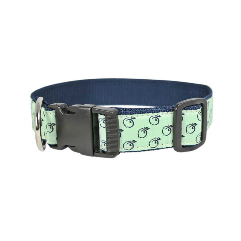 Peach Patterned Ribbon Dog Collar