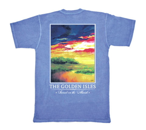 Blue Ridge Sunset Pocket Tee