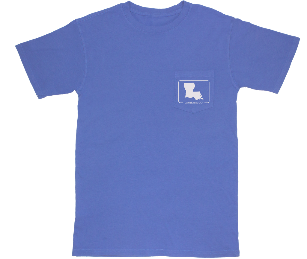 Louisiana Patch Short Sleeve Pocket Tee