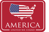 American Patch Decal - Red