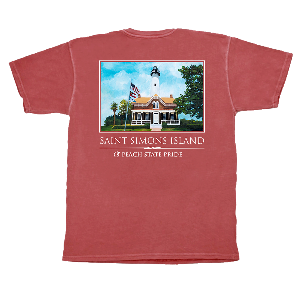 Saint Simons Lighthouse Short Sleeve Pocket Tee