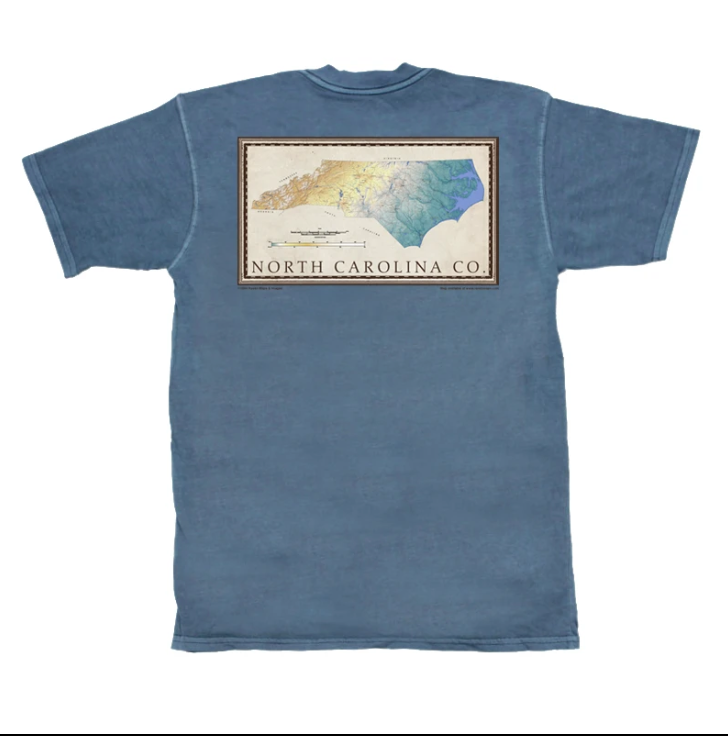 North Carolina Contour Short Sleeve Pocket Tee