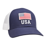 USA Flag Mesh Back Trucker Hat