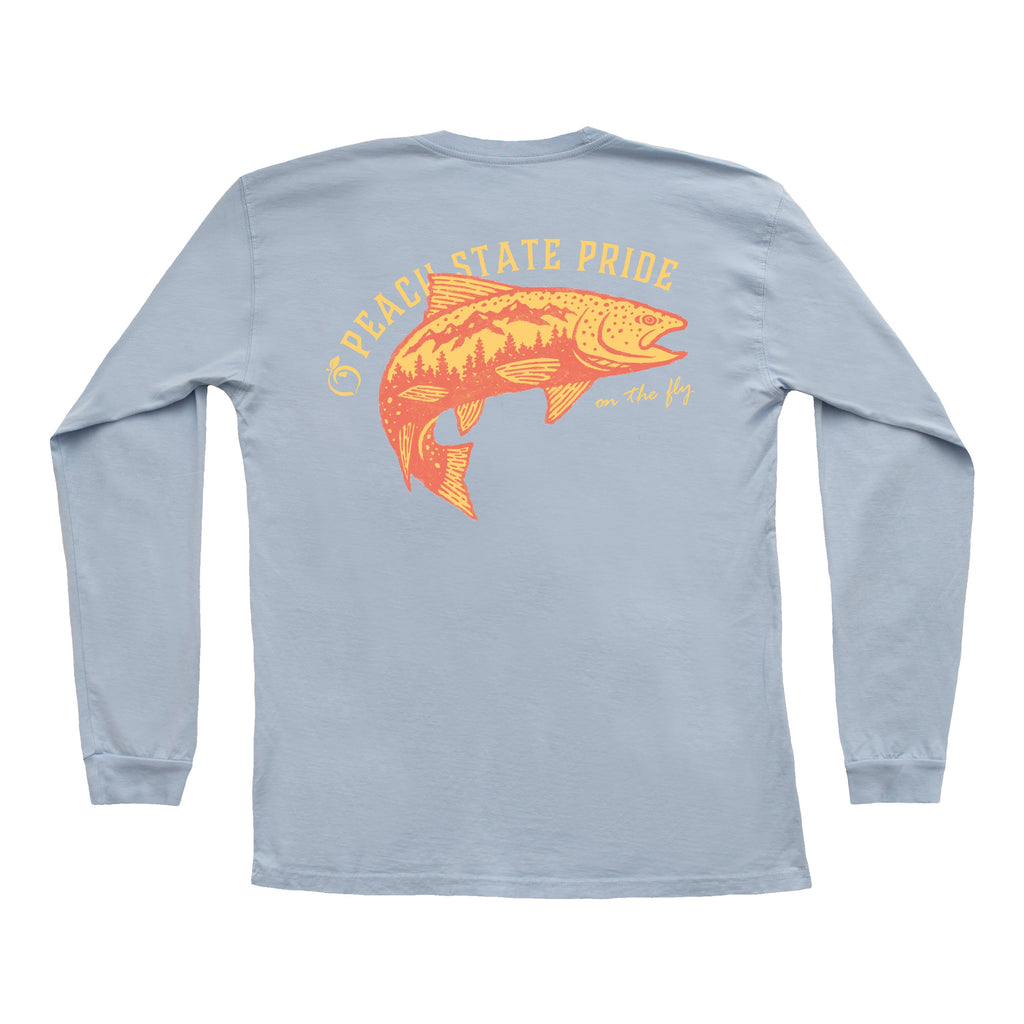 SALE - Flying Trout Long Sleeve Pocket Tee