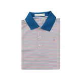American Co. Birch Stripe Performance Polo