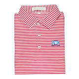 UWG Red & White Classic Stripe Performance Polo - Self