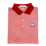 UWG Red & White Classic Stripe Performance Polo - Knit Collar