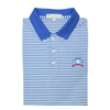UWG Royal & White Classic Stripe Performance Polo - Knit Collar