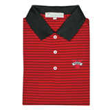 VSU Red & Black Magnolia Stripe Performance Polo - Knit Collar