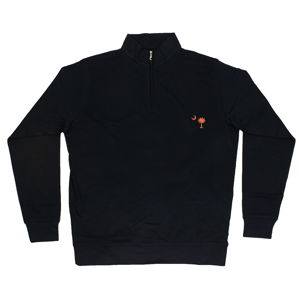 South Carolina Black Cotton Pullover - Orange Logo