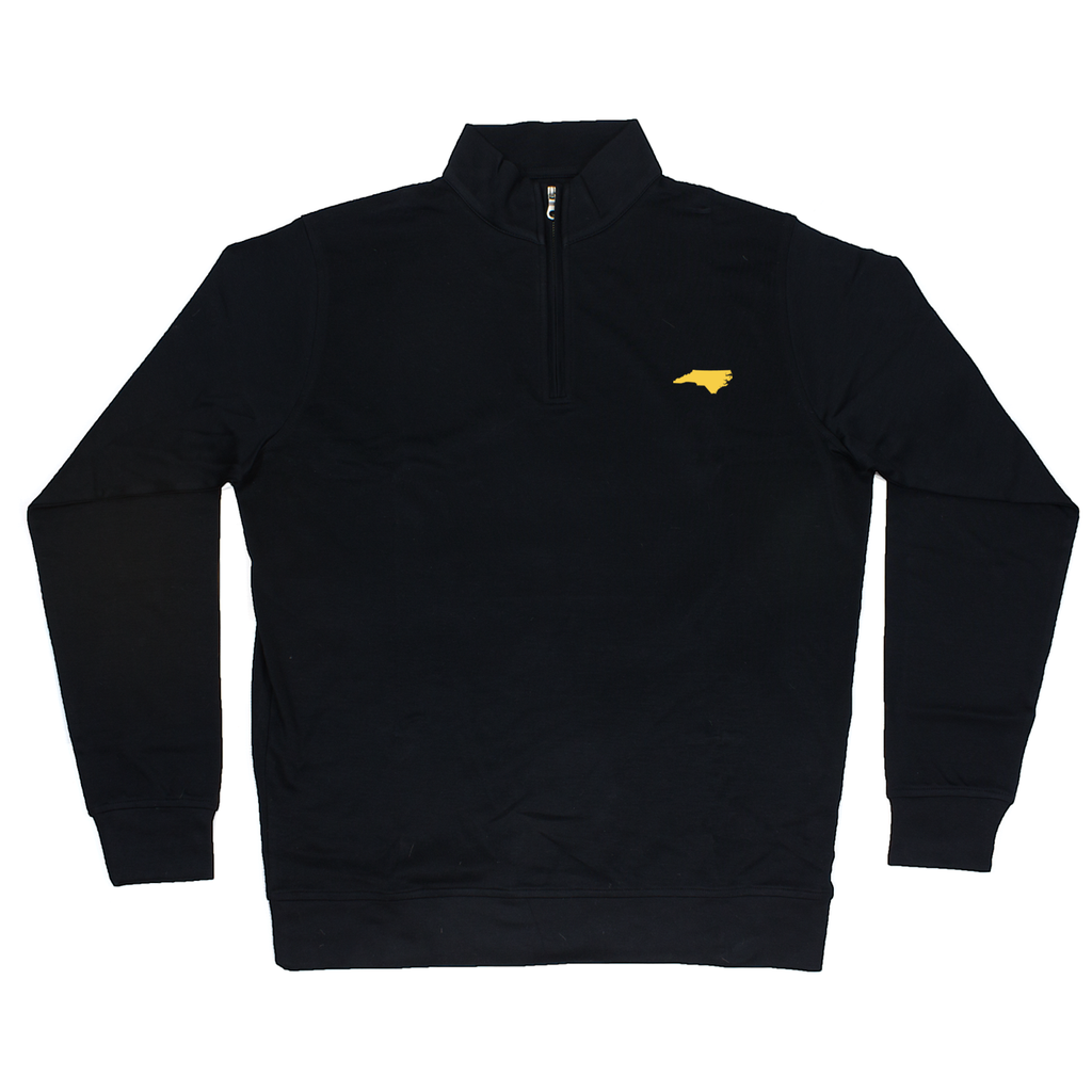 North Carolina Black Cotton Pullover - Yellow Logo