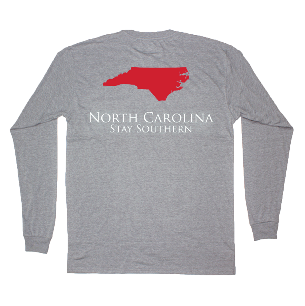 North Carolina Classic Stay Southern Long Sleeve Pocket Tee