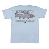 North Carolina Topo Trout Short Sleeve Pocket Tee