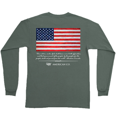 YOUTH - Support Local Farmers Long Sleeve Pocket Tee