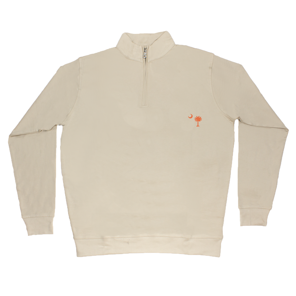 South Carolina Khaki Cotton Pullover - Orange Logo