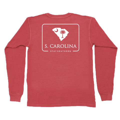 Peach State Pride Classic City Establishments Long Sleeve Pocket Tee