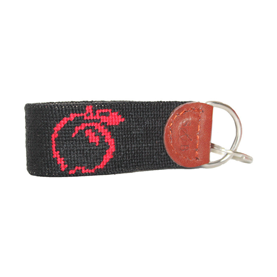 UGA Needlepoint Key Fob